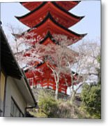 Japan Itsukushima Temple Metal Print