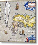 Japan: Map, 1606 Metal Print