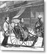 Japan: Rickshaw, 1874 Metal Print by Granger