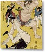 Japan: Sumo Wrestling Metal Print