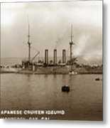 Japanese Cruiser Izumo In Monterey Bay December 1913 Metal Print