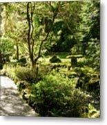 Japanese Garden At Butchart Gardens In Spring Metal Print