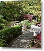 Japanese Garden Path With Azaleas Metal Print