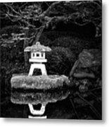 Japanese Garden Reflection Metal Print