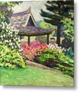 Japanese Garden-spring Blossoms Metal Print