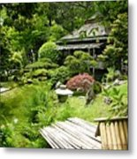 Japanese Garden Teahouse Metal Print