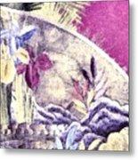 Japanese Iris - Kimono Series Metal Print