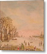 Japanese Light In Remembrance Of Aert Van Der Neer Metal Print