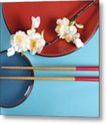 Japanese Oriental Place Setting Metal Print