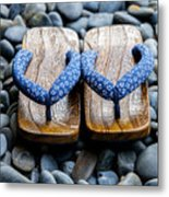 Japanese Sandals Metal Print
