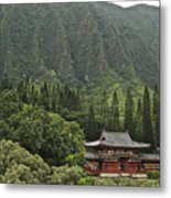 Japanese Temple Metal Print