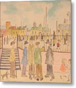 Japanese Whispers In Respect Of Lowry Metal Print