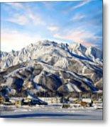 Japanese Winter Resort Metal Print