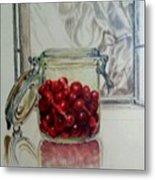 Jar Of Cherries Metal Print