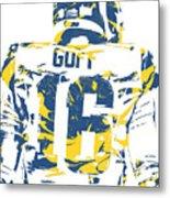 Jared Goff Los Angeles Rams Pixel Art 2 Metal Print
