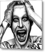 Jared Leto As The Joker Metal Print