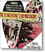 Jason Robards As Al Capone Theatrical Poster The St. Valentines Day Massacre 1967  Metal Print