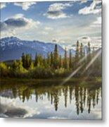 Jasper Glory Rocky Mountain View Metal Print