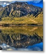 Jasper Pyramid Lake Reflections Metal Print