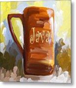 Java Coffee Cup Metal Print