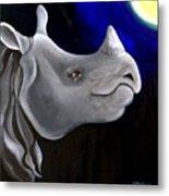 Javan Rhino Metal Print