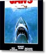 Jaws Movie Poster - 1975 Metal Print