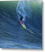 Jay Drops In At Mavericks Metal Print by Stan and Anne Foster
