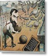 Jay Gould Cartoon, 1882 Metal Print