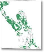 Jaylen Brown Boston Celtics Pixel Art 11 Metal Print