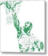Jaylen Brown Boston Celtics Pixel Art 12 Metal Print