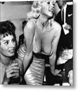Jayne Mansfield Hollywood Actress And, Italian Actress Sophia Loren 1957 Metal Print