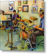 Jazz At The Gallery Metal Print