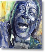 Jazz B.b.king 04 Blue Metal Print