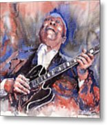 Jazz B B King 05 Red A Metal Print