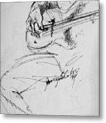Jazz Bass Guitarist Metal Print