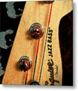 Jazz Bass Headstock Metal Print