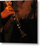 Jazz Clarinet Profile Metal Print