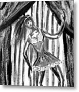 Jazz Dancer In Black  And White Metal Print