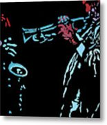Jazz Duo Metal Print