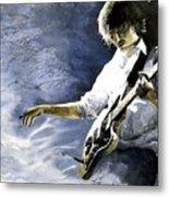 Jazz Guitarist Last Accord Metal Print