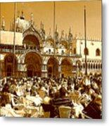 Jazz In Piazza San Marco Metal Print