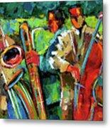Jazz In The Garden Metal Print