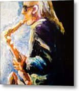 Jazz Man Metal Print by Karen  Ferrand Carroll