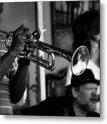 Jazz Men In Black And White Metal Print
