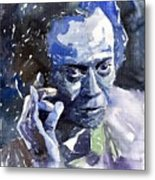 Jazz Miles Davis 11 Blue Metal Print