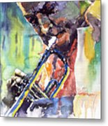 Jazz Miles Davis 9 Blue Metal Print