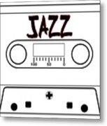 Jazz Music Tape Cassette Metal Print