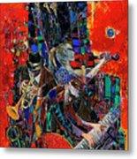 Jazz Orchestra 4 Metal Print
