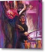 Jazz Purple Duet Metal Print