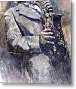 Jazz Saxophonist Charlie Parker Metal Print